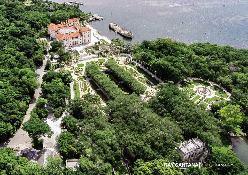 AERAIL VIEW VIZCAYA MUSEUM GARDENS PHOTOS Miami Wedding Photographer
