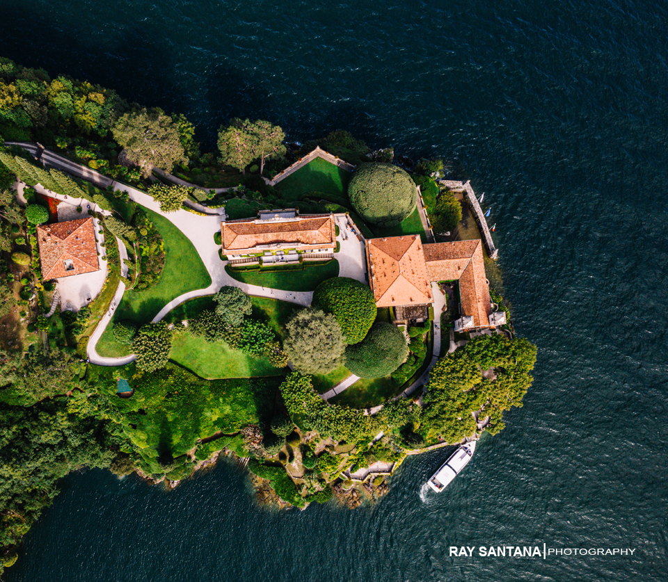 Villa Balbianello Lake Como Aerial Photos